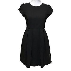 Zara Box-Pleated Fit & Flare Dress LBD